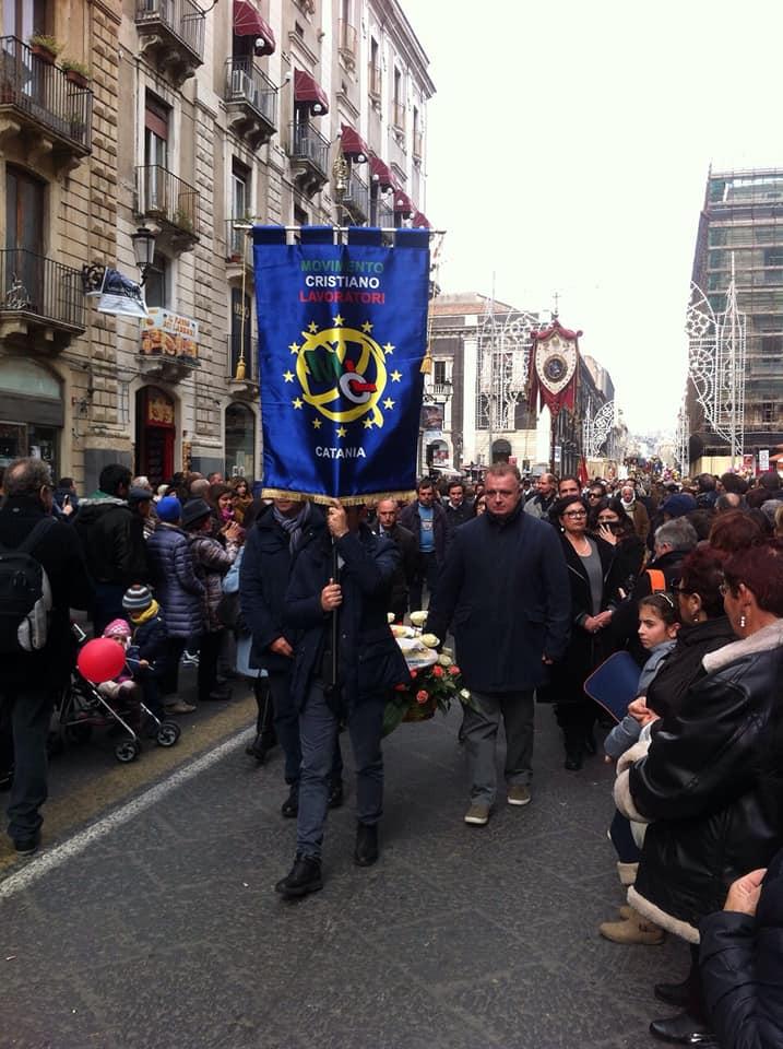 delegazione guidata dal presidente Provinciale Piergiuseppe De Luca presente alla sfilata di giorno 3 Febbraio a Catania.